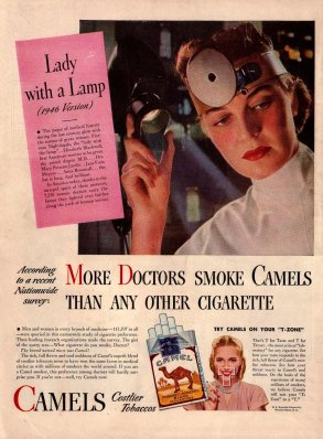 Cigarettes recommended by doctors
