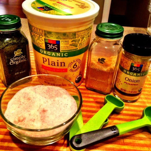 The makings for a delicious, healthy, versatile dip!