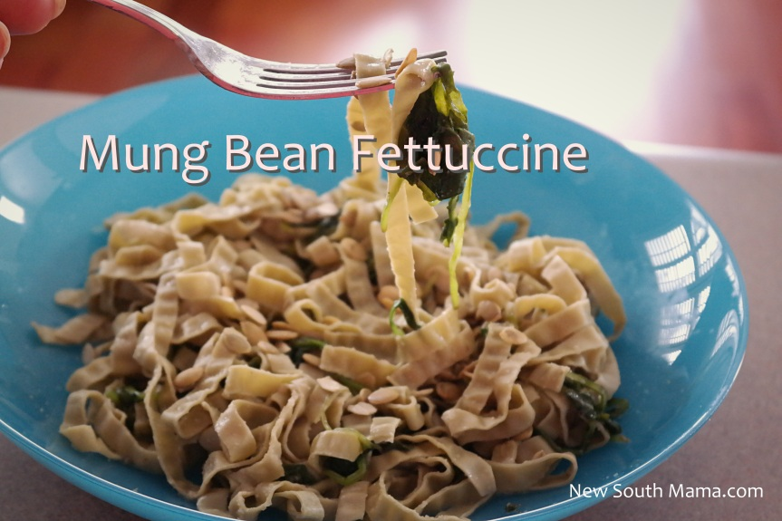 Mung Bean Pasta with Kale and Lemon Butter