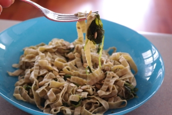 Mung Bean Fettuccine with Kale