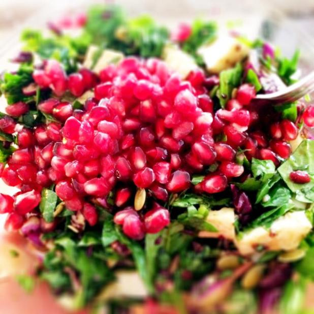 Pomegranate seeds add nutrient-rich beauty to any dish